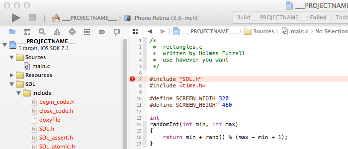 How To Set Up A Sdl 2 Project For Ios In Xcode 5 Bits Of Bytes
