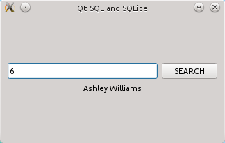 SQLite and Qt SQL example application