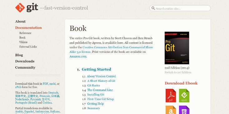 Pro Git 2nd edition