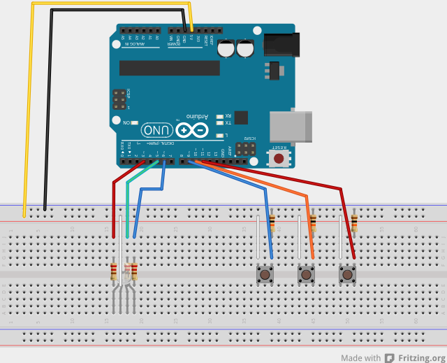 Controlling an RGB LED with Arduino on