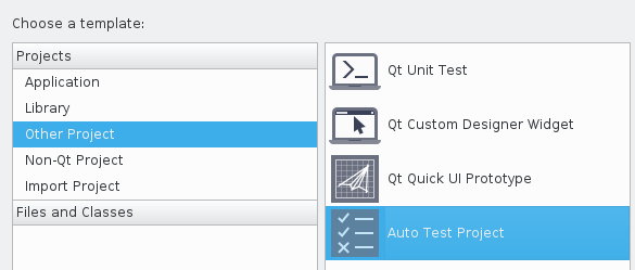 Creating an Auto Test Project in Qt Creator for C++ unit testing with Qt Test