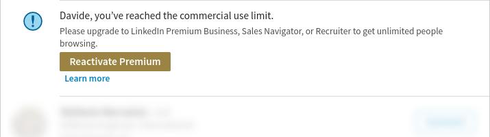 Linkedin search blocked